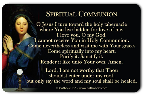 Military Spiritual Communion Card Donation