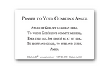 St. Michael the Archangel Card with Guardian Angel Prayer