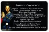 Spiritual Communion Card