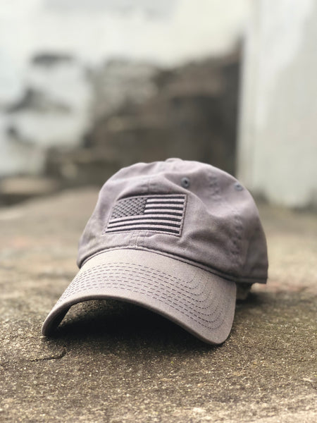 American Flag Cap Grey