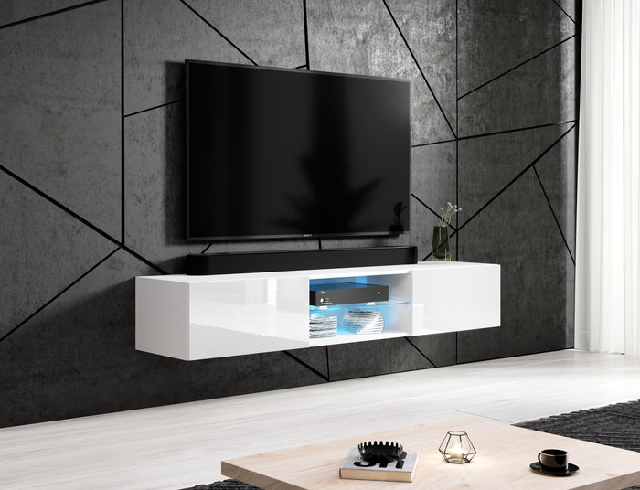 GOI GLASS Wall Mounted Floating TV Stand 71""