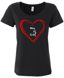 "Women's ""Love My Cat"" soft cotton t-shirt"
