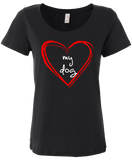 "Women's ""Love My Dog"" soft cotton t-shirt"