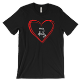 "Men's ""Love My Dog"" soft cotton t-shirt"