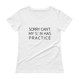 Sorry, can't. My Son has practice t-shirt.