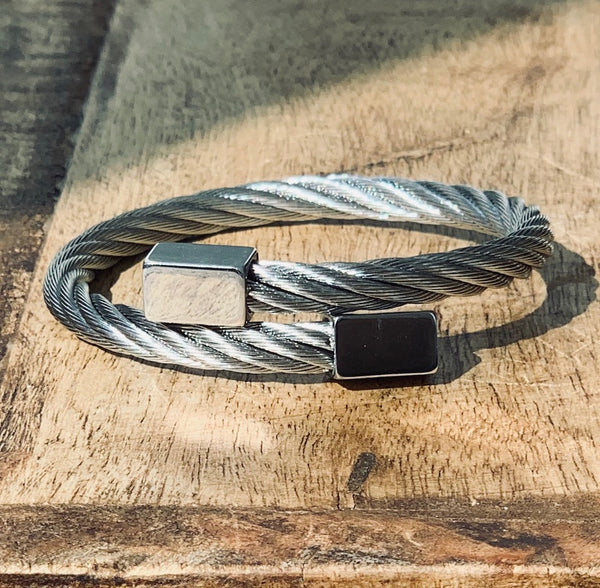 HIGHLINE 316L STAINLESS STEEL CABLE WRAP BRACELET