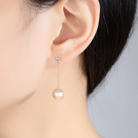 Oceanic Pearl Luxe Drop Tassel Earrings