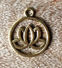Tranquil Lotus Hollow Gold Colored Charm