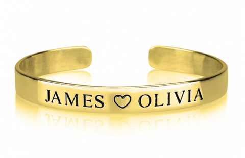 Custom Name 24k Gold Cuff – Rugged Swag