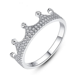 Boss Queen Silver Crown Ring in Cubic Zirconia