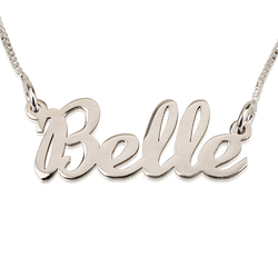 Personalized Cursive Name Sterling Silver Pendant Necklace