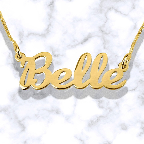 14k Gold | Personalized Name | Classic Cursive Necklace