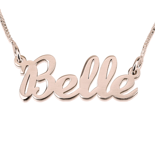 Classic Custom Name Rose Gold Necklace