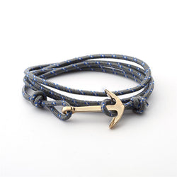 Drop Anchor | Adjustable Grey Rope Bracelet