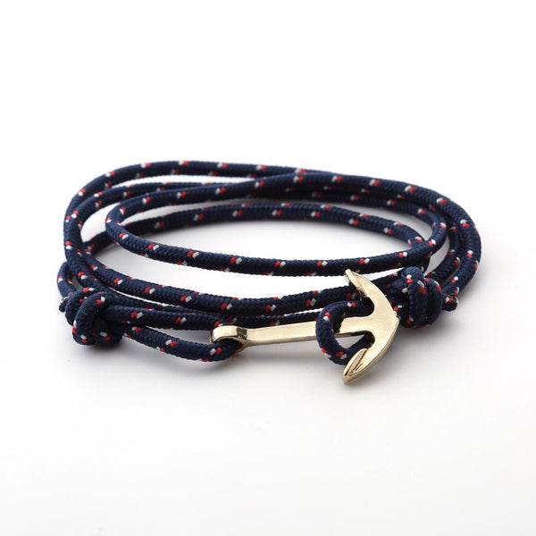 Drop Anchor | Adjustable Patriotic Rope Bracelet