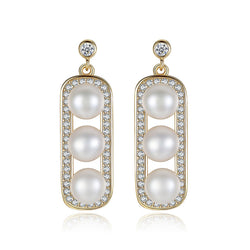 Eventide | Sparkling Pearl Drop Earrings