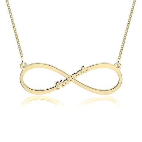 24k Gold | Personalized Name | Infinity Necklace