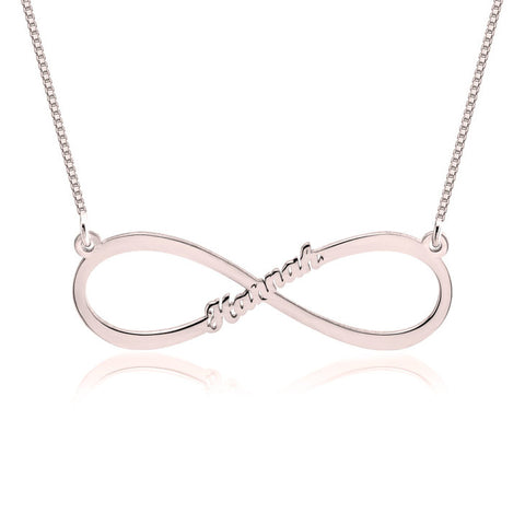 Personalized Rose Gold Infinity Name Necklace