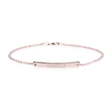 Personalized Slim Bar Rose Gold Name Bracelet