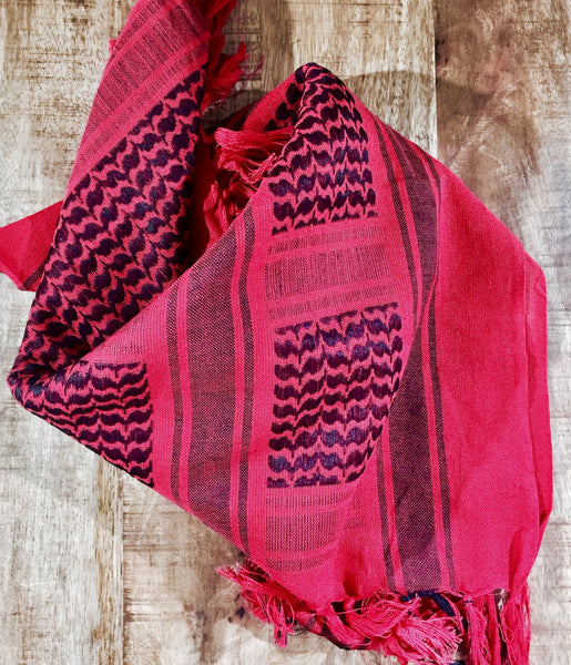 red shemagh military scarf keffiyeh cotton
