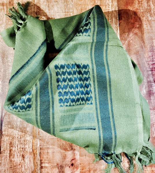 army green shemagh military scarf keffiyeh cotton