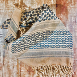 brown desert tan shemagh military scarf keffiyeh cotton