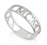 Custom Date Roman Numeral Sterling Silver Ring