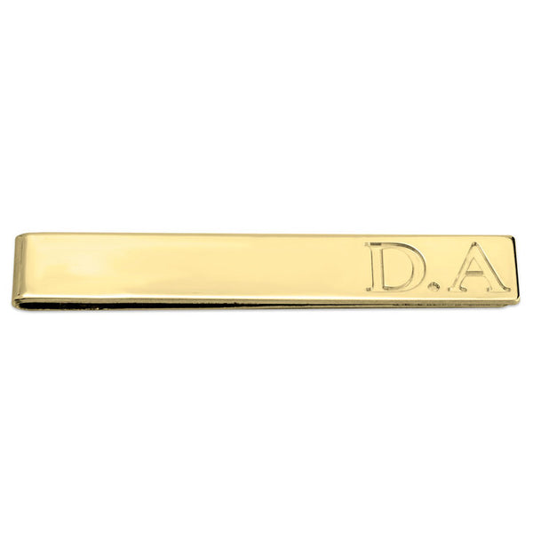 Personalized Initial 24k Gold Professional Tie Bar
