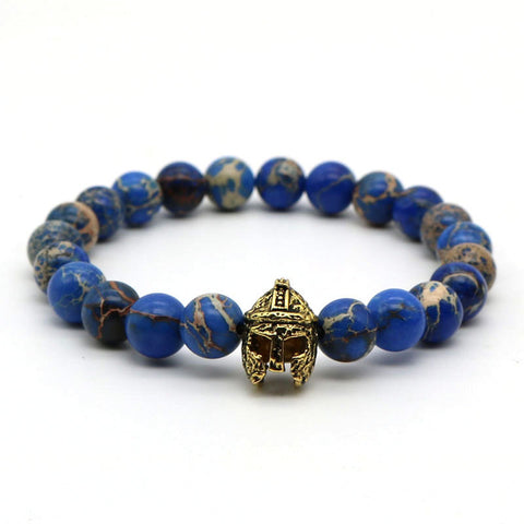 Scottish Warrior | Deep Ocean Stone Stretch Bracelet