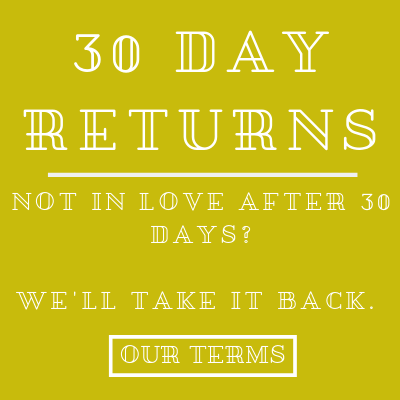 WE OFFER 30 DAY RETURNS ON ALL OF OUR JEWELRY AND ACCESSORIES