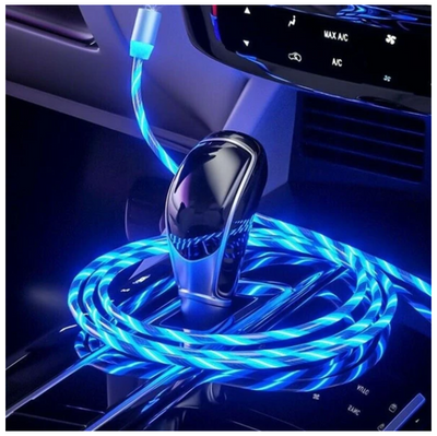 Neon Glow LED Magnetic 3 in 1 USB Charging Cable - 50% Off