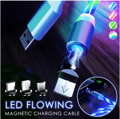 Neon Glow LED Magnetic 3 in 1 USB Charging Cable ✮✮