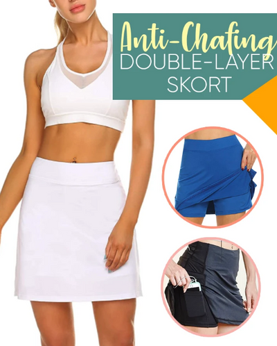Anti-Chafing Double-Layer Skort ★★