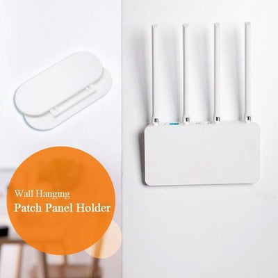 Punch-Free Wall Hanging Patch Panel Holder ★★
