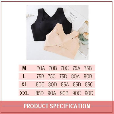 Seamless Front Buckle Support Bra ⋆