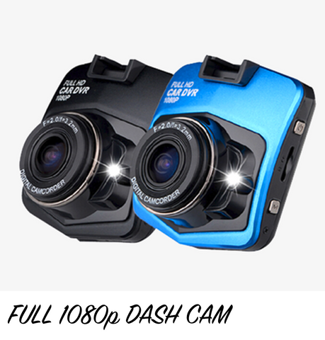Full 1080p HD DVR Dash Camera With Night Vision (GT300)