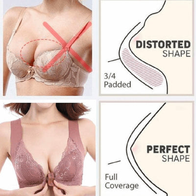 Front Closure Extra-Elastic Breathable Bra ★