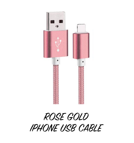 Rose Gold iPhone Charging Cable