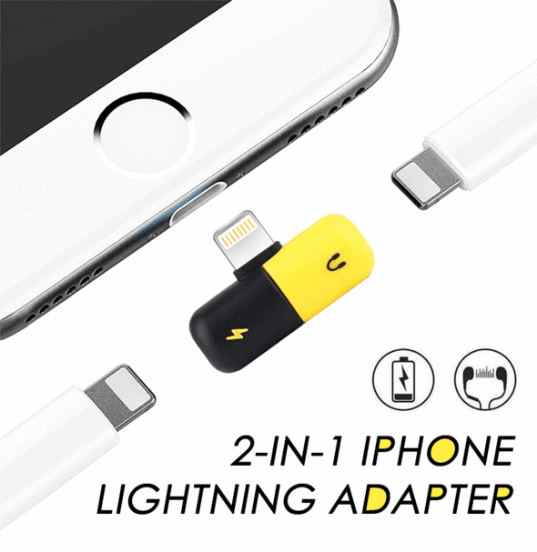 2-in-1 Iphone Lightning Adapter ★