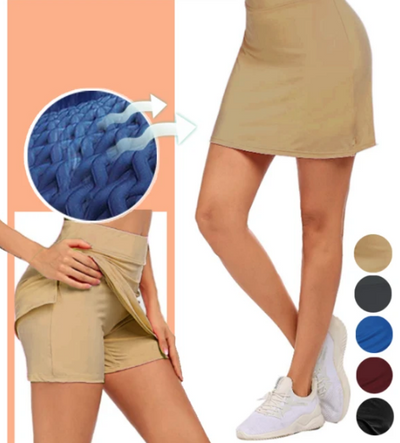 Anti-Chafing Double-Layer Skort ★