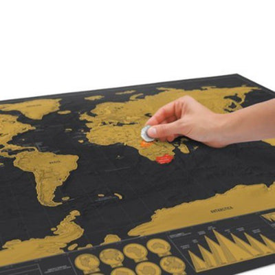 Scratchable Deluxe Edition World Map