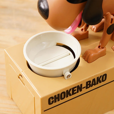 Cute Coin-Eating-Dog Bank