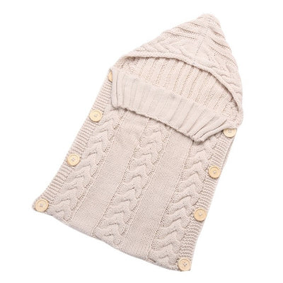Warm Knitted Swaddle Baby Sleeping Bag