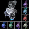 3D Teddy Bear Colorful LED Lamp