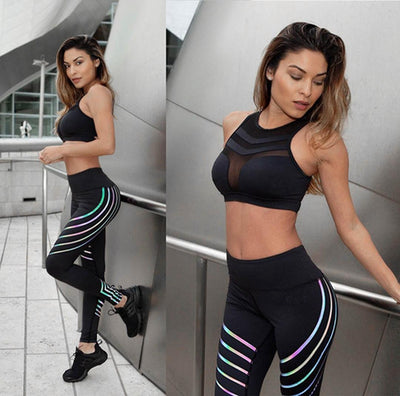 Lumina Reflective Fluo Laser Fitness Leggings