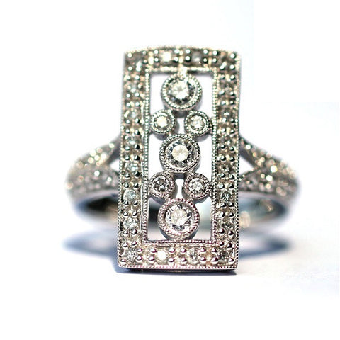 Iris Bubble White Diamond Ring - Exclusive Diamond Co