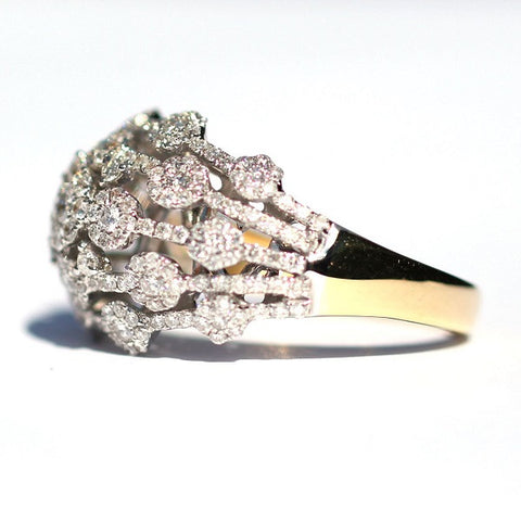 Leonora Cluster Dot Diamond Ring - Exclusive Diamond Co