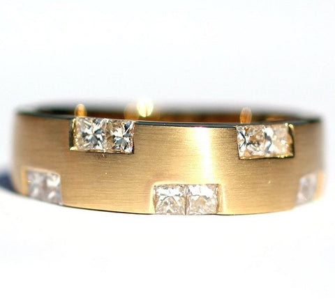 Ramona Brushed Gold Diamond Ring - Exclusive Diamond Co