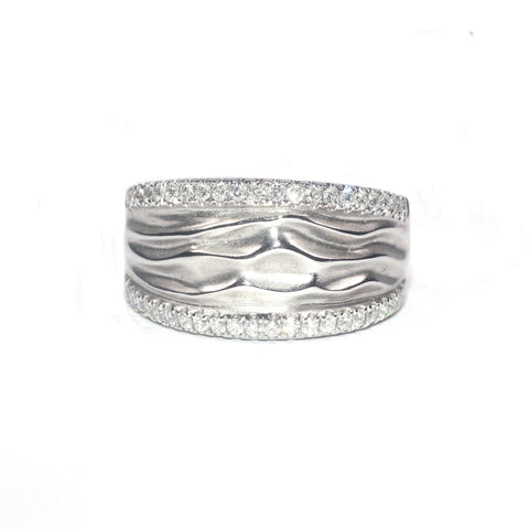 Daphne Ripple White Diamond Ring