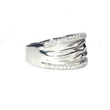 Daphne Ripple White Diamond Ring - Exclusive Diamond Co